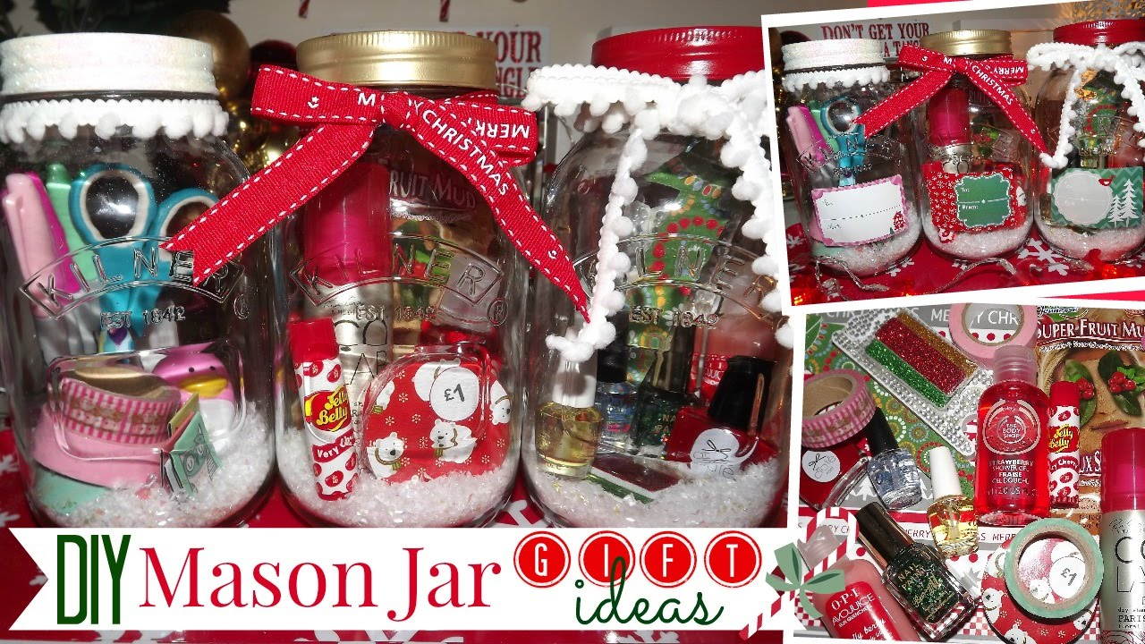 Ideas for christmas gifts in mason jars