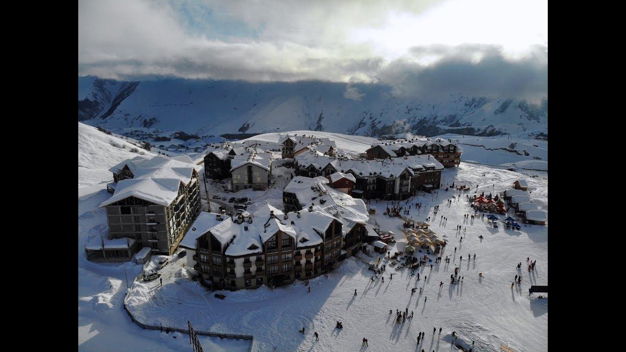 Skiing in Gudauri, Georgia