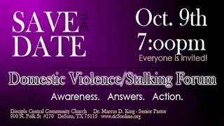 Stalking and Domestic Violence Forum: Law and Order SDV
