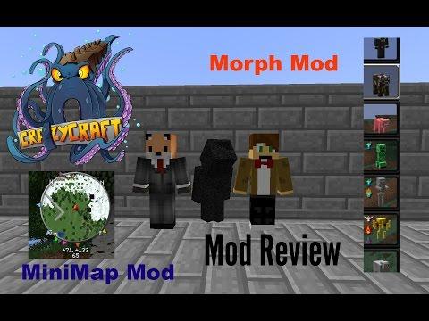 Minecraft CRAZY CRAFT MOD REVIEW: Morph Mod & Minimap Mod (2)