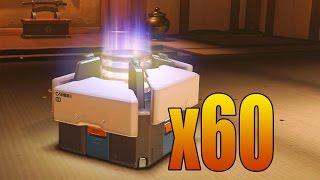 x60 OVERWATCH LOOT BOX OPENING!
