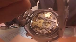 Inside a vintage heuer calculator watch