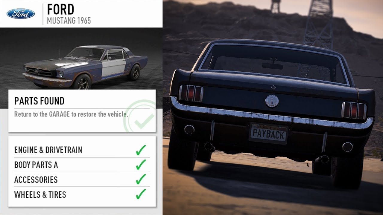 Need For Speed Payback Ford Mustang 1965 Ardusat Org