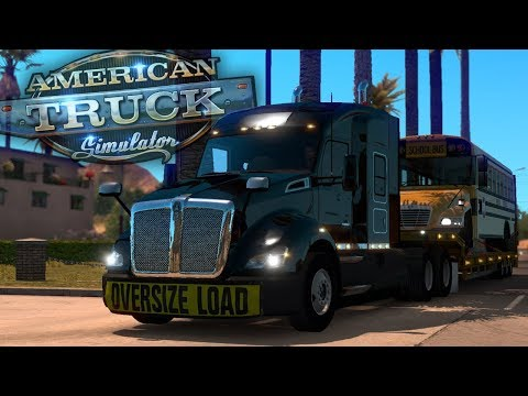 Late School Bus Load to LA! - Day 17 - American Truck Simulator Mods