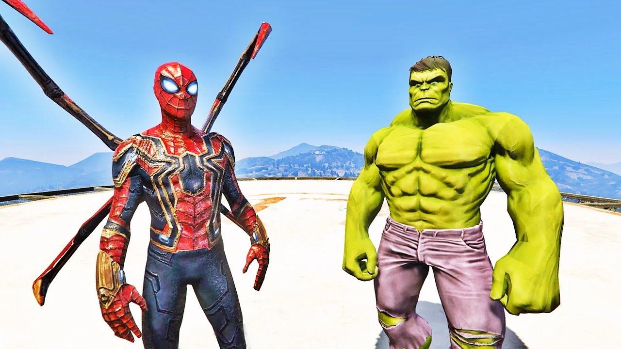 Homem Aranha De Ferro Vs Incrivel Hulk Gta V Mods Ir Games