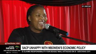 SACP unhappy with Mboweni's Economic Policy