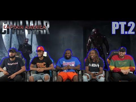 Captain America Civil War: Iron Man Vs. Captain America And Winter Soldier PT.2 Reaction