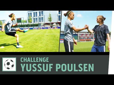 Freistoß-Challenge vs. Yussuf Poulsen | RB Leipzig | Kickbox