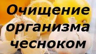 Как похудеть Очищение организма с помощью чеснока Настой для очищения сосудов из чеснока и лимона