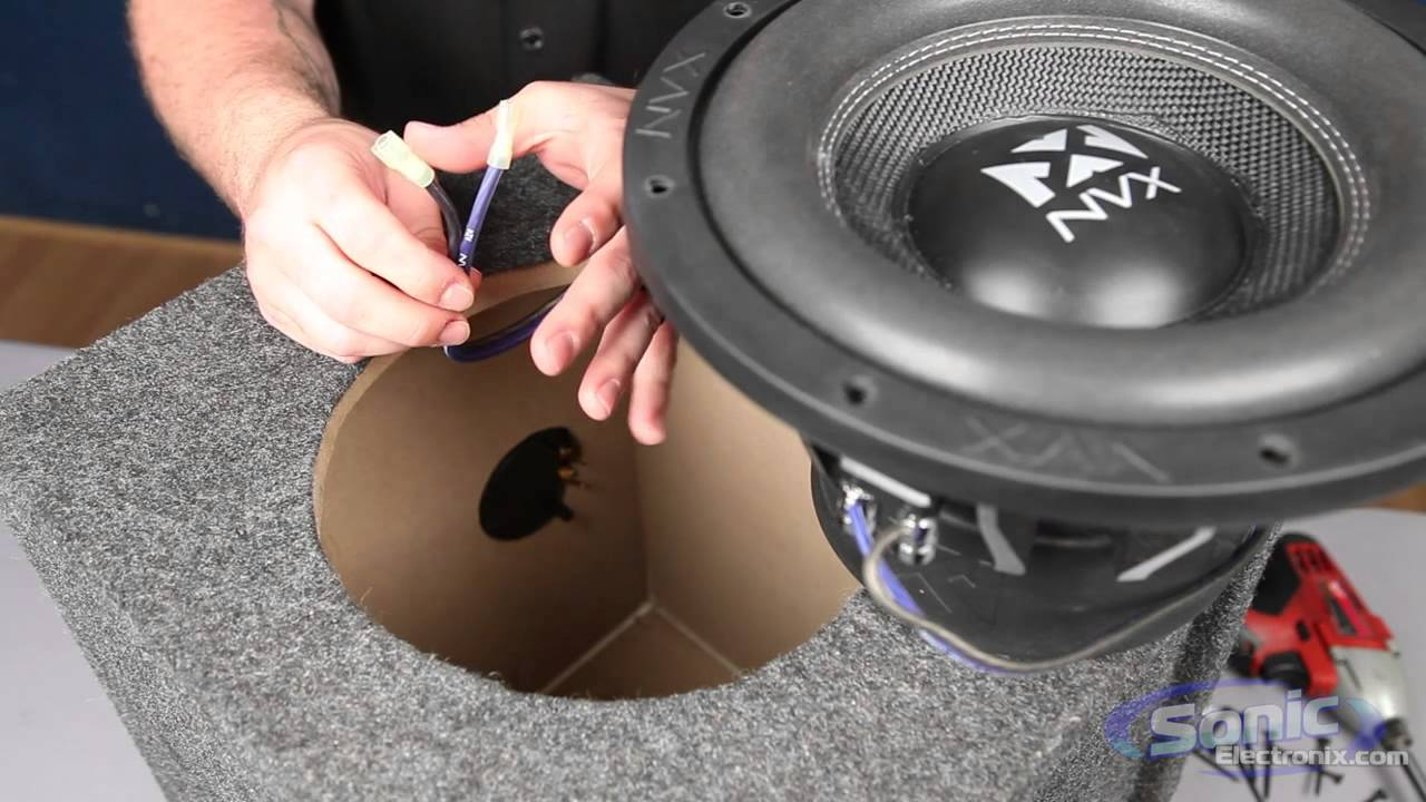 how to install a car subwoofer in a box youtube rh youtube com Crutchfield Sub Wiring -Diagram Alpine Sub Wiring -Diagram