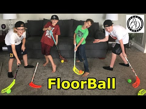 Kids HocKey - Pavel Barber sends boyz surprise box filled with FloorBall Plus Sticks