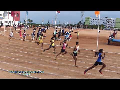 GIRLS U 17  200m RUN  FINAL. 60Th TAMIL NADU STATE REPUBLIC DAY SPORTS MEET  - 2017-18