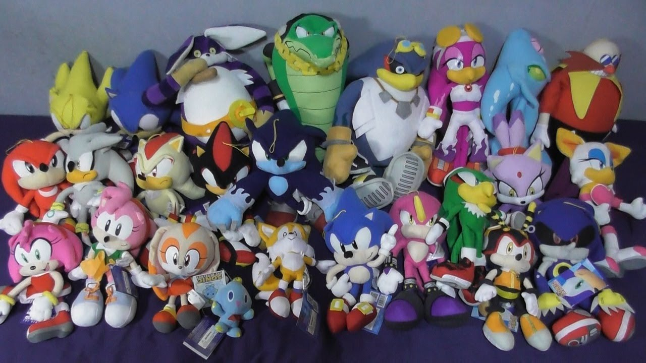 Sonic The Hedgehog Plush Toy Collection Full Set Youtube