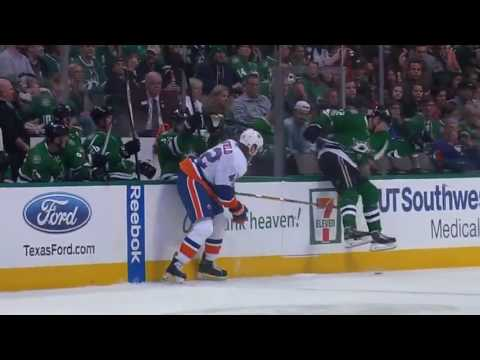 NHL Dallas Stars - New York Islanders Radek Faksa INSANE SLIDE