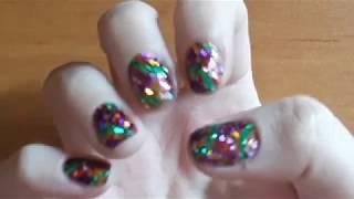 I tried following a Simply Nailogical nail art tutorial... again
