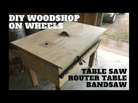 DIY 3 in 1 workbench - table saw, router table, jigsaw
