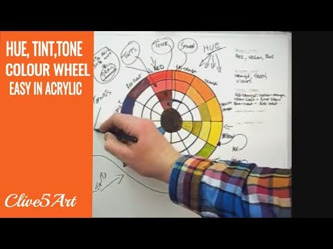 Huetinttones The Color Wheel Acrylic Painting Youtube