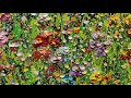 How to paint flowers field /oil,acrylic oncanvas/สอนวาดรูป/palette knife painting
