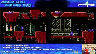 Batman NES - Speed Run Race in 12:48 Sinister1 VS Funkdoc (Awesome Games Done Quick 2013)