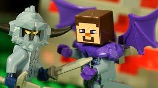 ЛЕГО НУБик Майнкрафт против НЕКСО НАЙТС Мультики LEGO Minecraft Мультфильмы Видео для Детей