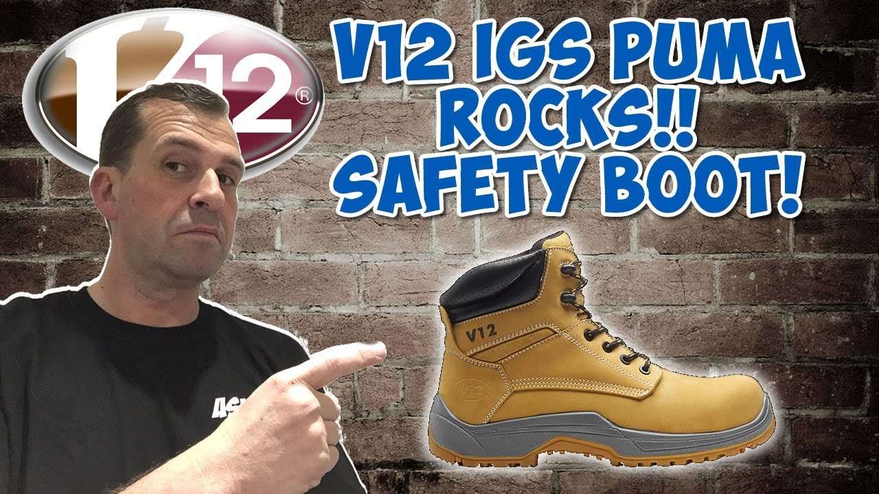 9ff3a223b18 AskAdy Reviews the Best Work Boot The V12 Puma safety boot. VR602.01 Safety  Boot