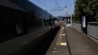 KTR8000 特急タンゴリレー4号福知山行 厚中問屋駅 高速通過
