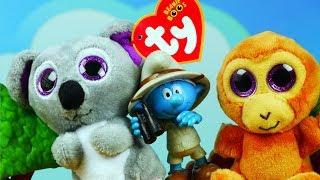 Smerfy & Happy Meal Beanie Boos   Na safari   Bajki dla dzieci