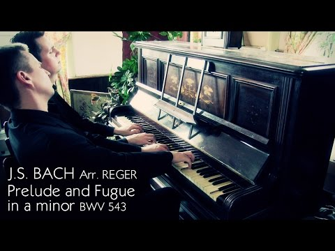 J.S. BACH - PRELUDE & FUGUE IN A MINOR BWV543 (PIANO DUET - ARR.REGER) - SCOTT BROTHERS DUO