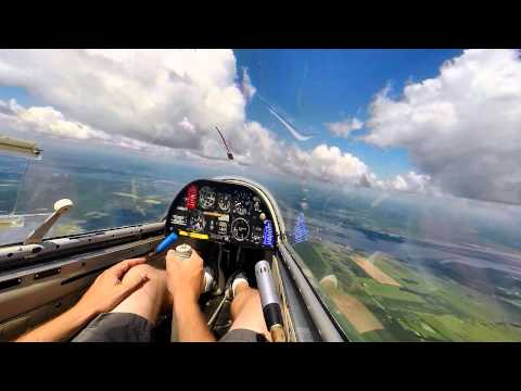 Gliding Lesson - Great soaring day and training flight