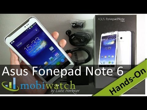 Asus Fonepad Note 6 Hands-on: Tabphone For Half A Note 3