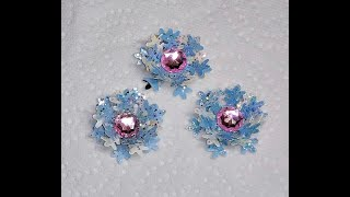 DIY~Sparkly & Easy Snowflake Flower Embellishments For Craft Projects!