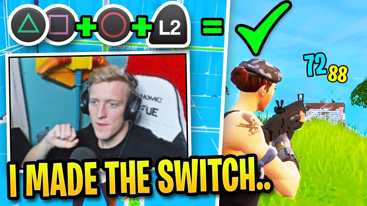 It looks like Tfue is actually going to switch to controller