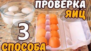 КАК ПРОВЕРИТЬ ЯЙЦА НА СВЕЖЕСТЬ. 3 способа как проверить яйца  Без Фартука