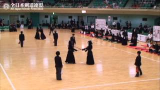 KYOTO vs TOKYO  -The 7th All Japan Interprefecture Ladies Kendo Championship 2015 1st Round