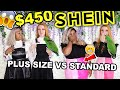 SHEIN HAUL 2019 |  $450 SHEIN PLUS SIZE HAUL & STANDARD SIZE COMPARISON