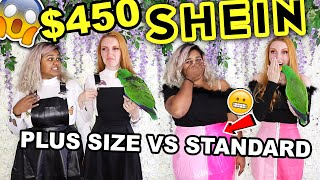 SHEIN HAUL 2019 |  $450 SHEIN PLUS SIZE HAUL & STANDARD SIZE COMPARISON