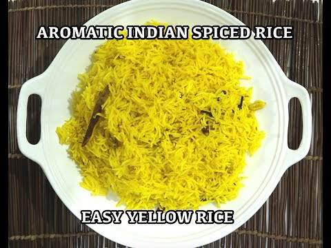 Aromatic Indian Yellow Basmati Rice Recipe