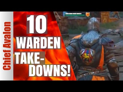 HOW TO GET 10 TAKEDOWNS WITH WARDEN IN DOMINION | 4v4 | For Honor