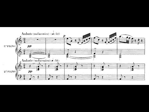 Saint-Saëns-Debussy - Introduction and rondo capriccioso for two pianos  (audio + sheet music)