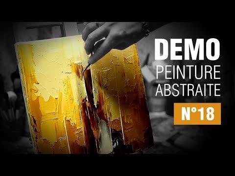 Demo peinture acrylique au couteau n°18 - YouTube