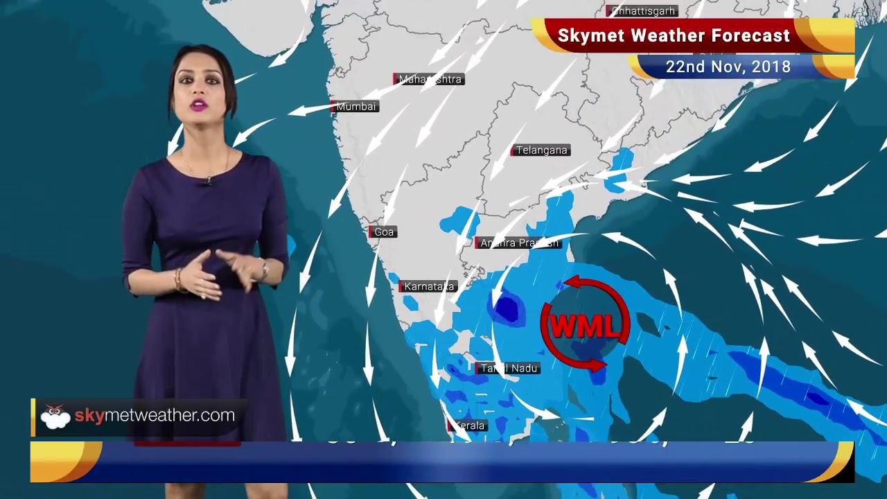 Weather Map Chennai Weather Forecast Nov 22: Rain in Chennai, TN, Kerala, Karnataka