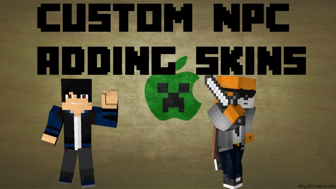Minecraft How to Add your Own Skin in Custom NPC Mod