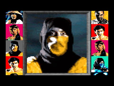 Mortal Kombat 1 (Sega Genesis) - Scorpion Playthrough