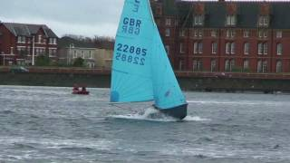 Enterprise Dinghy racing at Southport in gale