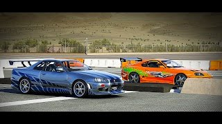 Forza 6: Fast And Furious - Nissan SKYLINE GT-R (R34) Vs Toyota SUPRA | Drag Race