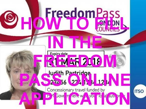 How To Fill In The Freedom Pass Online Application