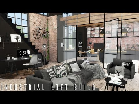 The Sims 4: Industrial Loft + CC LINKS | BUILD