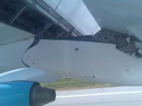 Avro RJ-85 landing in Bukhara