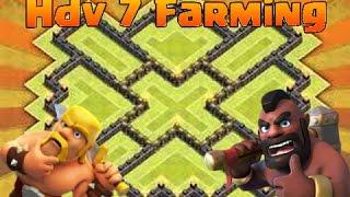 Speed Building I Hdv 7 I Village Farming ( Propulseur d'air Inclue ) I Clash Of Clans