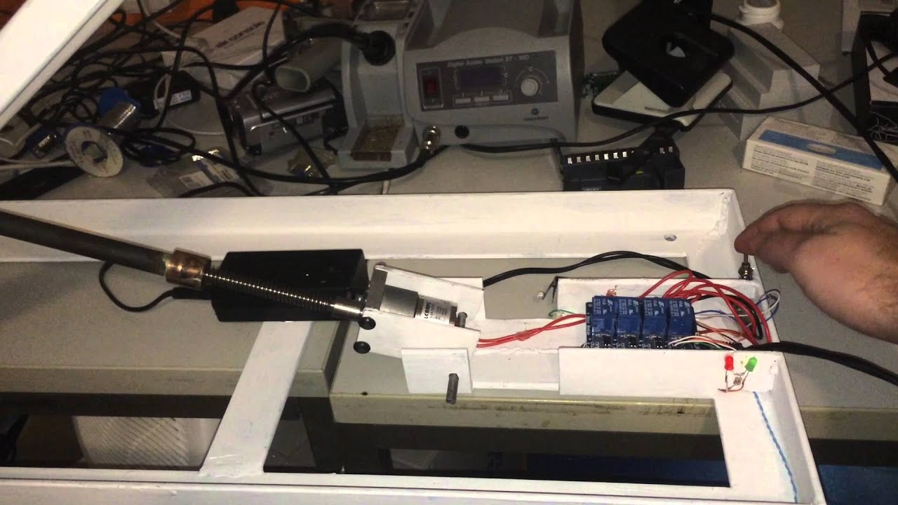led tv motor wandhalterung selbst gebaut fr das smarthome - Motorisierte Tv Wandhalterung